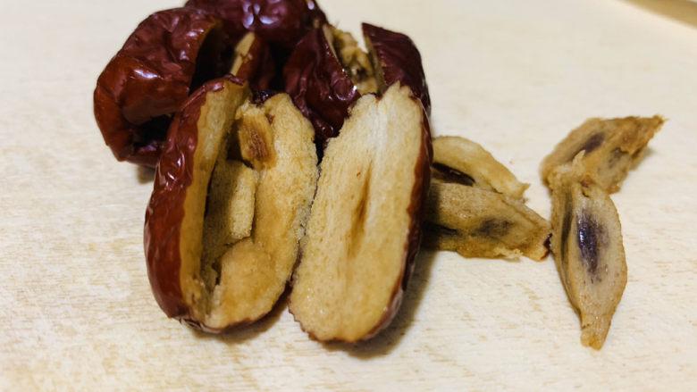 红枣黑米粥,红枣核不要,只要去核的红枣;