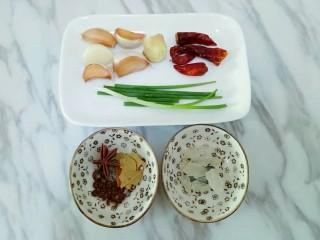 香菇板栗鸡块,准备辅料