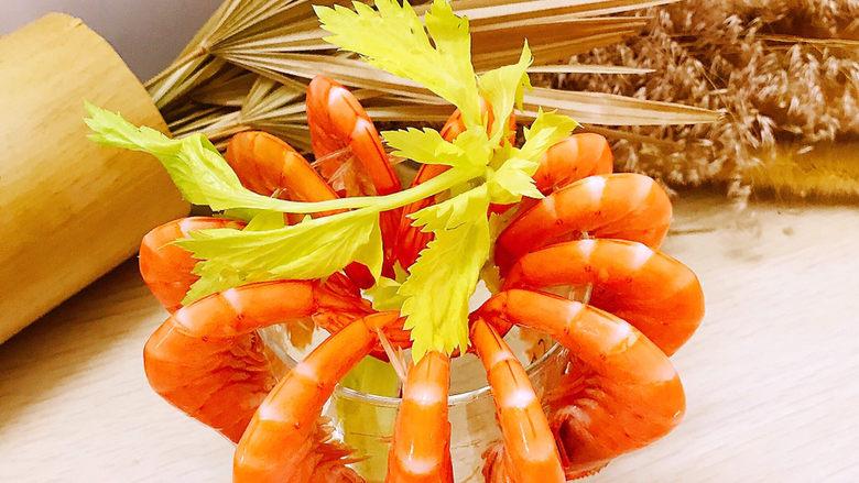 白灼大虾,装饰一下