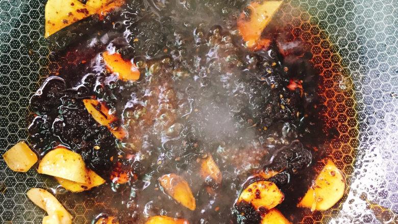 干锅藕片,炒出红油色
