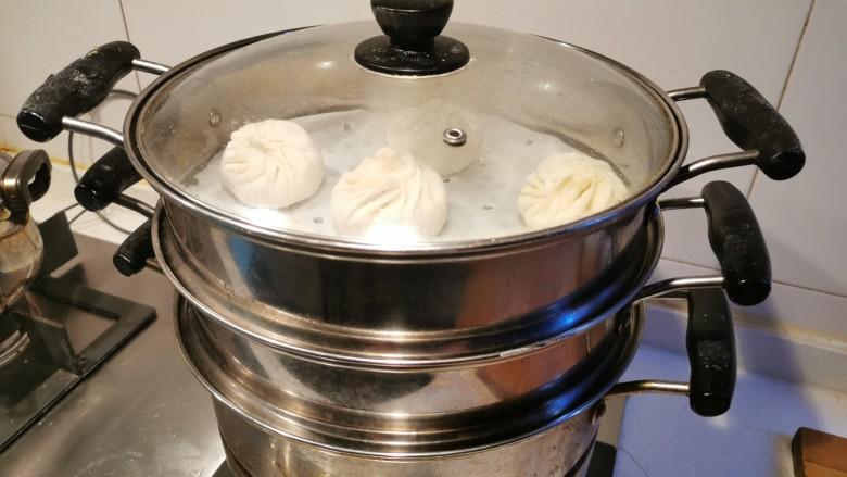 猪肉白菜包子,大火蒸,上汽以后蒸20分钟
