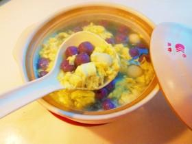 紫薯酒酿蛋花小圆子