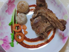 法式香煎小羊排--家庭版,足不出户吃法餐