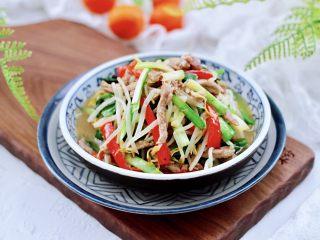 韭菜炒豆芽,成品