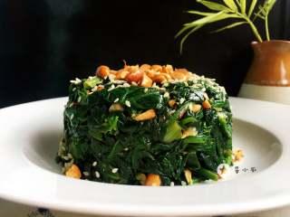 菠菜拌花生米