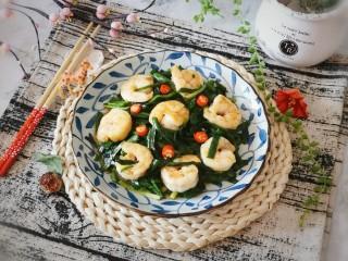 韭菜炒虾仁,鲜香适口