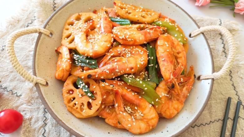 麻辣干锅虾,虾肉鲜美紧实。