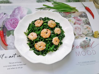 韭菜炒虾仁
