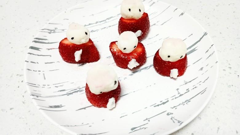 草莓山药,放在草莓底部