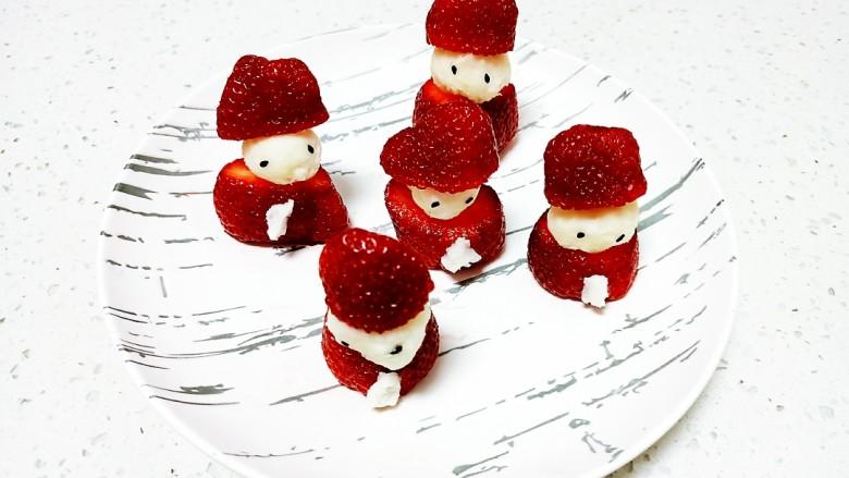 草莓山药,盖上草莓盖