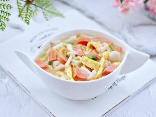 海鲜菇鸡蛋汤,成品