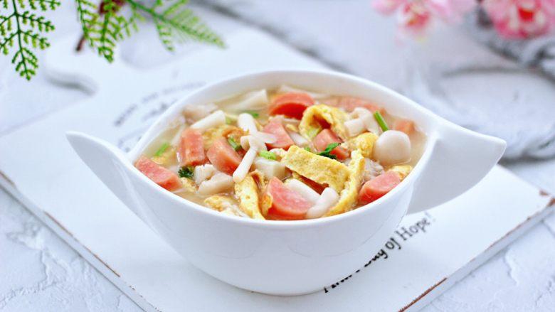 海鲜菇鸡蛋汤