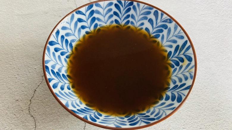 蚝油油麦菜,加入适量的清水搅拌均匀备用