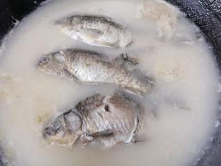 奶白鲫鱼豆腐汤,炖至鱼汤成奶白色