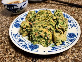 菠菜蛋卷➕绿柳才黄半未匀,成品