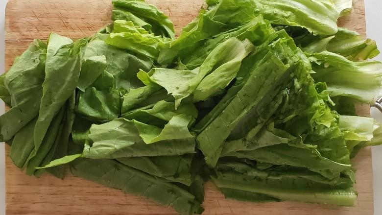 蚝油油麦菜,切段