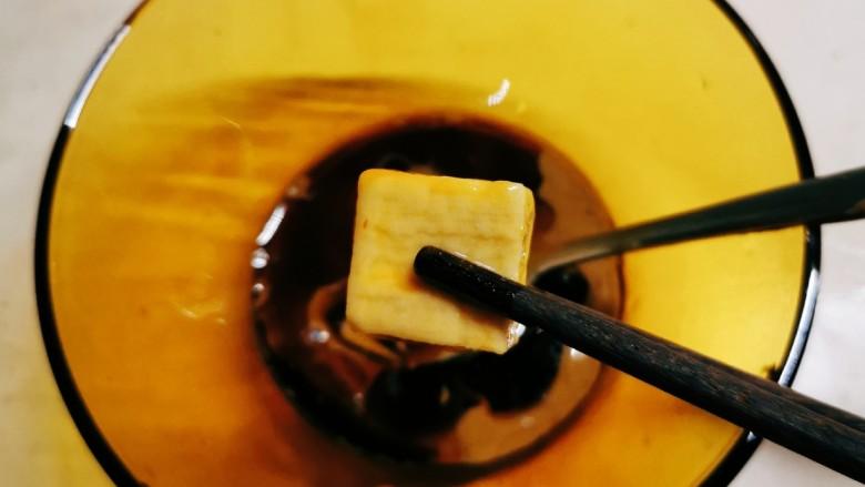 麻酱油麦菜,放入白腐乳