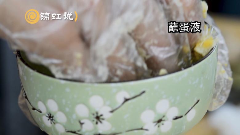 好吃的黄金虾球,制作的时候口水直流,蘸蛋液