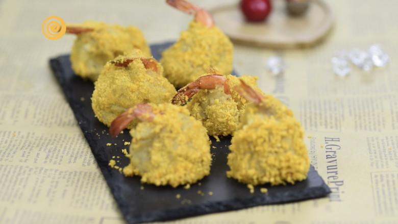 好吃的黄金虾球,制作的时候口水直流,金黄美味的黄金虾球,特别有食欲。