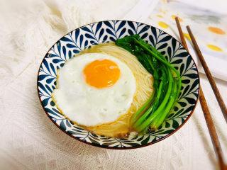 菠菜鸡蛋面