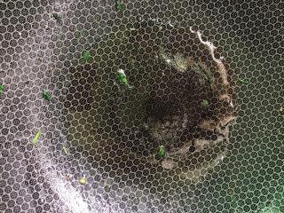 韭菜炒猪肝,锅烧热后放油。