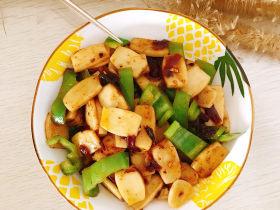 青椒蔥油炒年糕