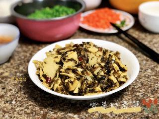 雪菜炒春笋➕ 花上有黄鹂