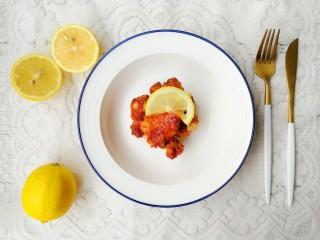 柠檬鸡翅,出锅摆盘开吃