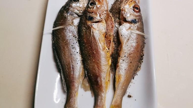 清蒸小黄鱼,腌制20分钟