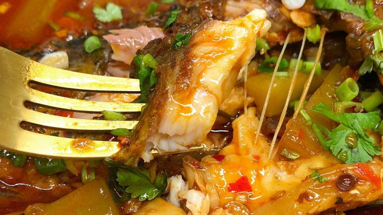 酱焖鲫鱼,鱼肉越嚼越香