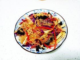 凉拌海石花、紫甘蓝、木耳