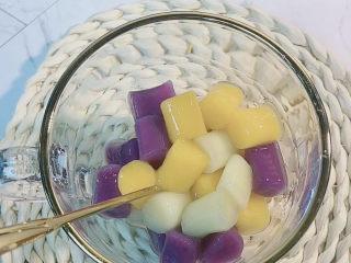 芋圆水果捞,杯子里➕芋圆