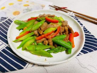 芦笋炒肉片,成品图