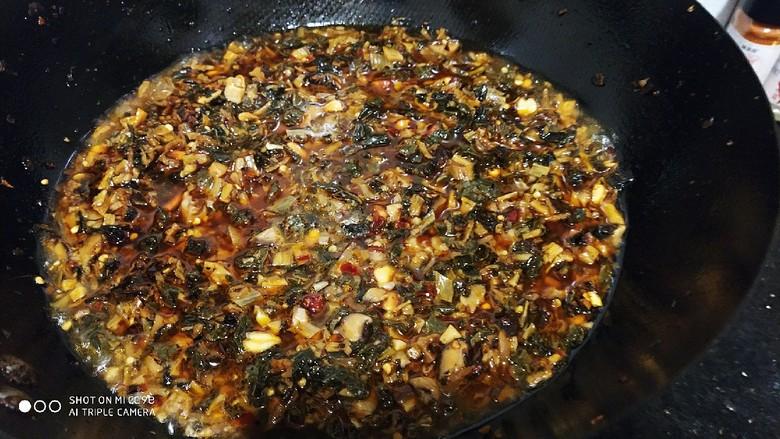 香辣梅干菜  超级下饭,到入水焖煮