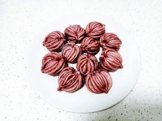 心形紫薯馒头