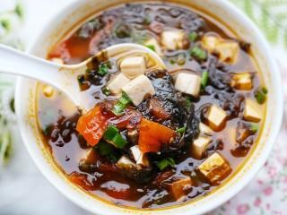 紫菜番茄豆腐汤,好吃到没朋友!