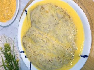 香酥鸡排,一层鸡蛋液