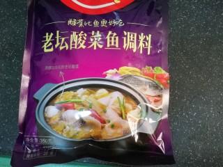 快手酸菜鱼,前几天零元抢购到一包酸菜鱼调料包,赶紧试试看