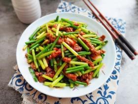 蒜苔炒牛肉