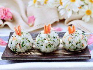 香椿红虾饭团
