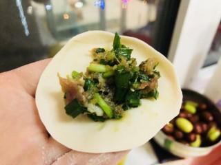 韭菜豬肉餡水餃,包餃子