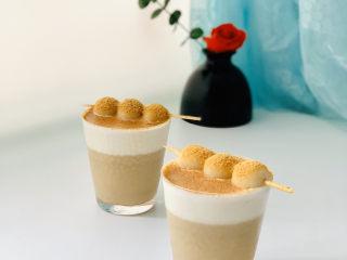 白玉丸子咖啡布丁
