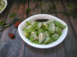 韭菜豬肉餡水餃,成品圖