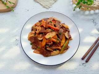 杏鮑菇炒牛肉,成品圖