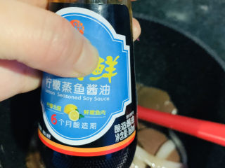 韭菜炒鴨血,加醬油;