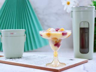 彩色圓子橘子椰奶昔,好喝到停不下來。