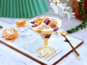 彩色圓子橘子椰奶昔