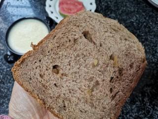 健康美味低脂减肥的黑全麦提子核桃面包,多吃不胖哦