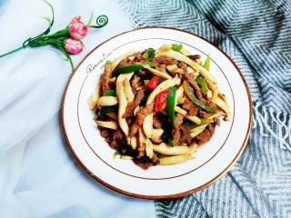 杏鲍菇青椒炒牛肉