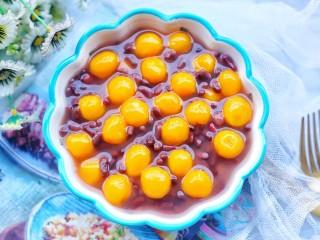 補血養顏的紅豆南瓜糯米丸子,成品。